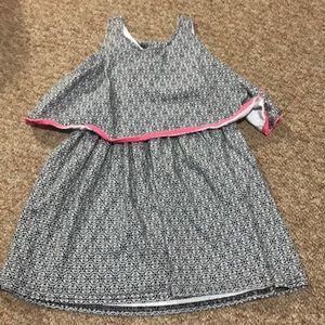 Girl dress with flap